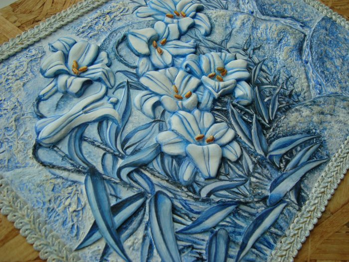 How to make blue lily panel