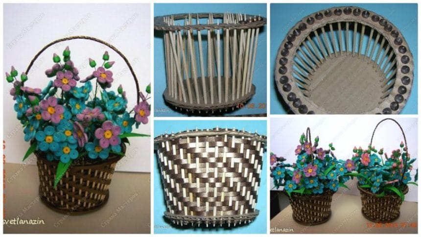 How to make basket for bouquet