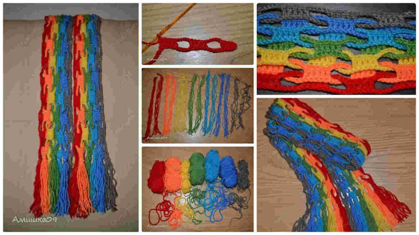 How to make unusual crochet scarf