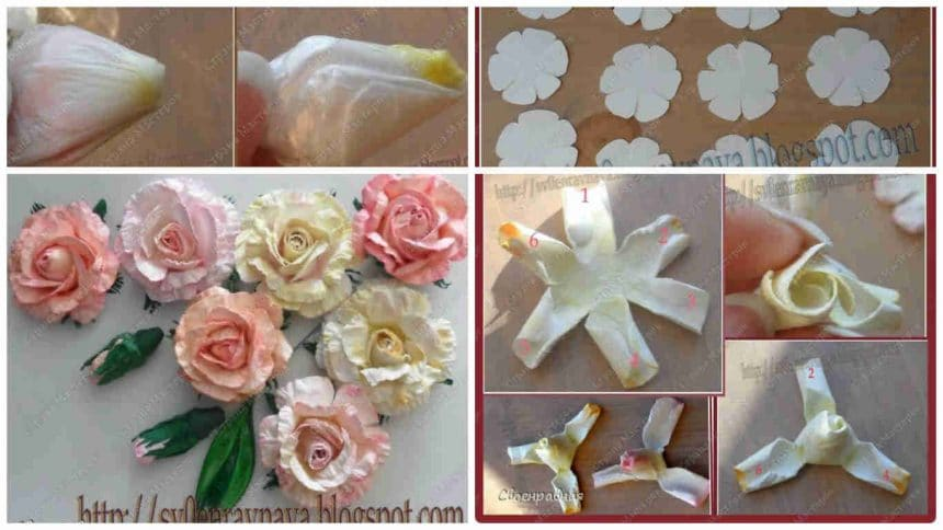 How to make flowers from paper