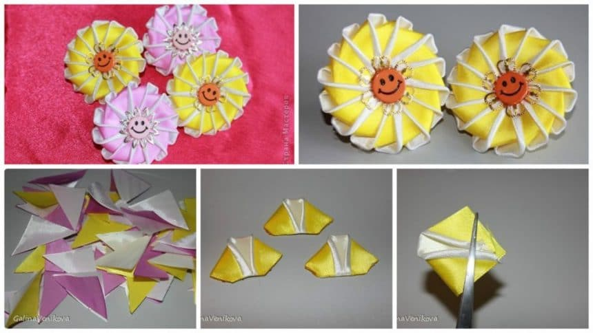 How to make double petal from kanzashi