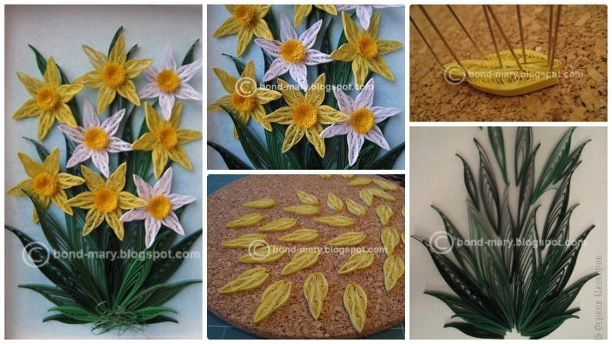 How to make quilling daffodils