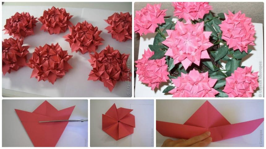 How to make peonies flower from paper
