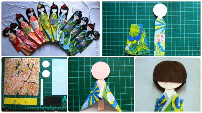 How to make Japanese paper doll