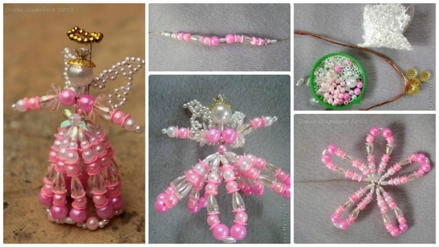 How to make pink angel from bead
