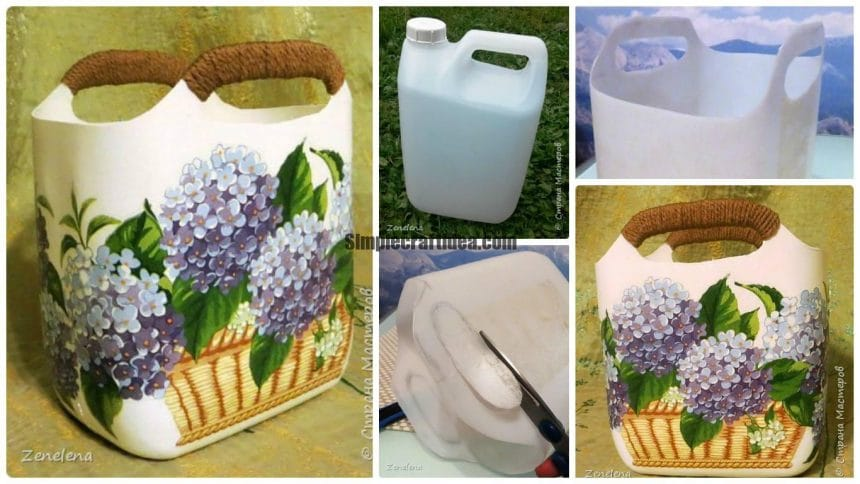 How to make basket from plastic canister up any detergent