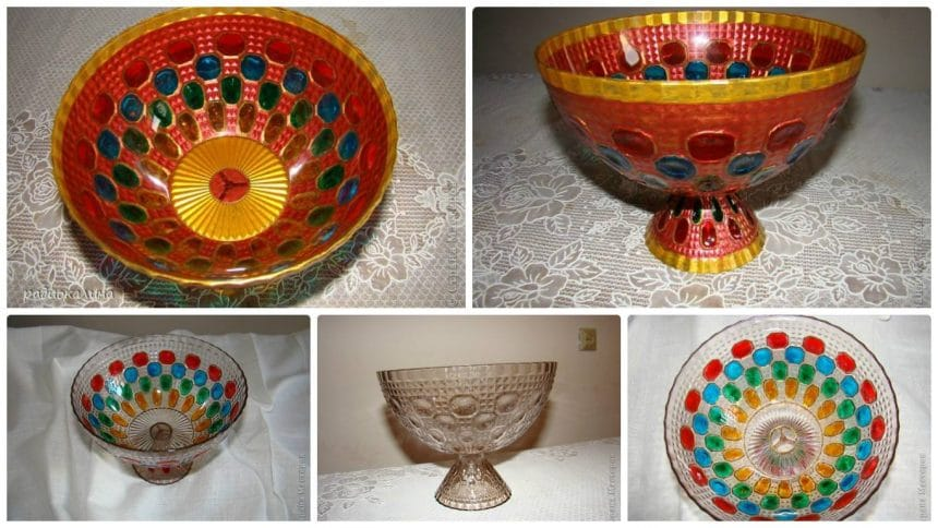 How to make bowl with precious stones