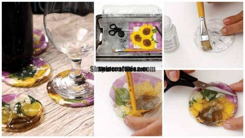 How to make coasters out of plastic bottles