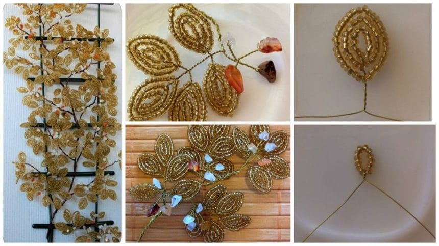 How to make bead flower wall panels