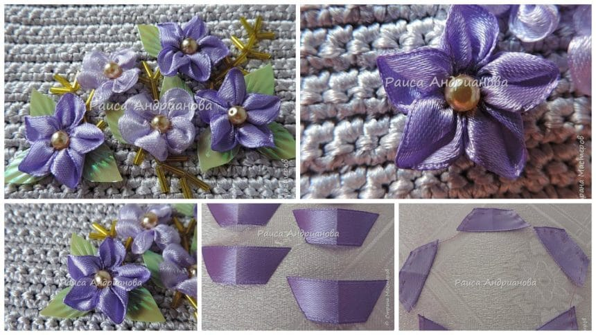 How to make ribbon flower