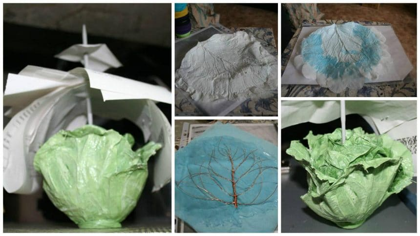 How to make cabbage leaf organizer