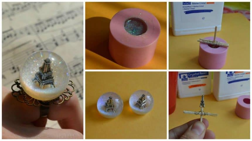 "How to make ring sphere ""Paris"" of the epoxy resin"