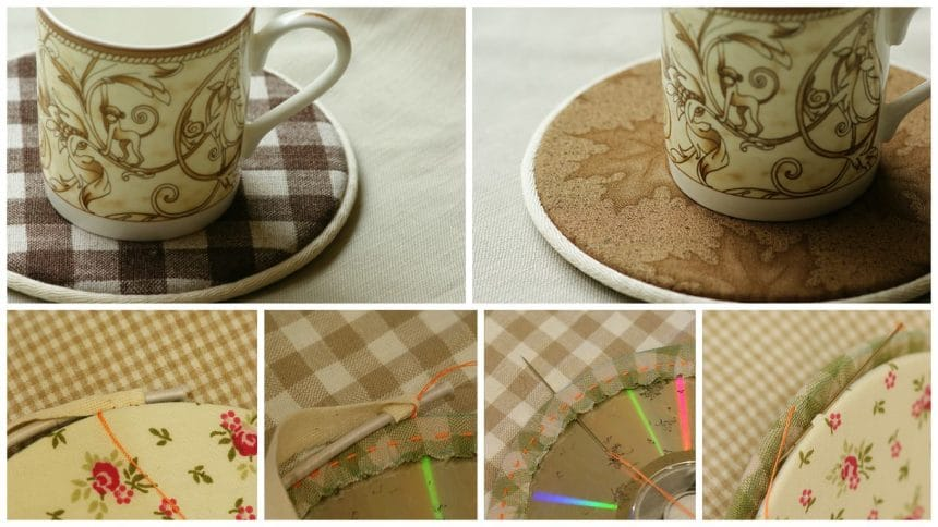 How to make coasters from old cd's