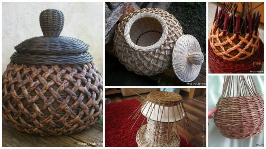 How to make pot from newspaper tubes