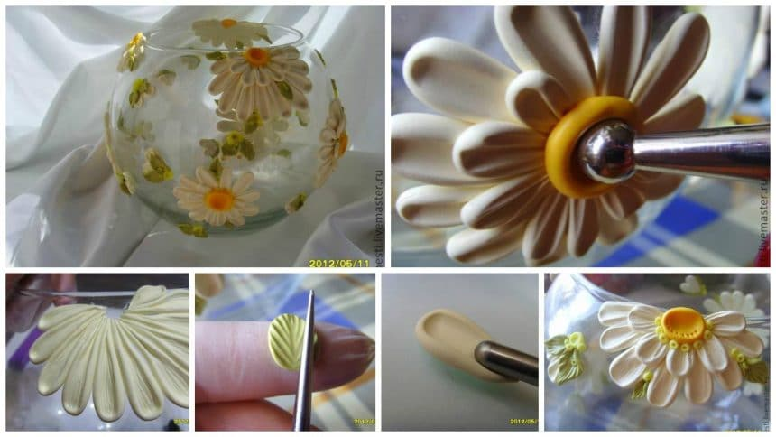 How to decorate pot from lovely daisies