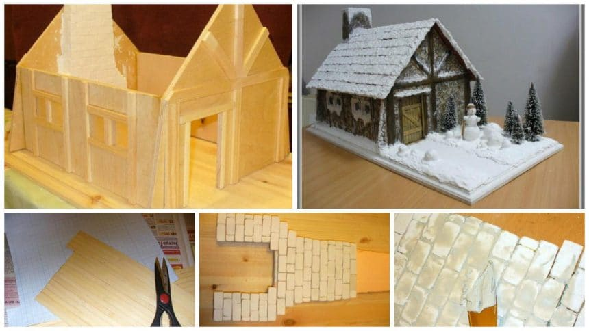 How to make a miniature alpine hut.