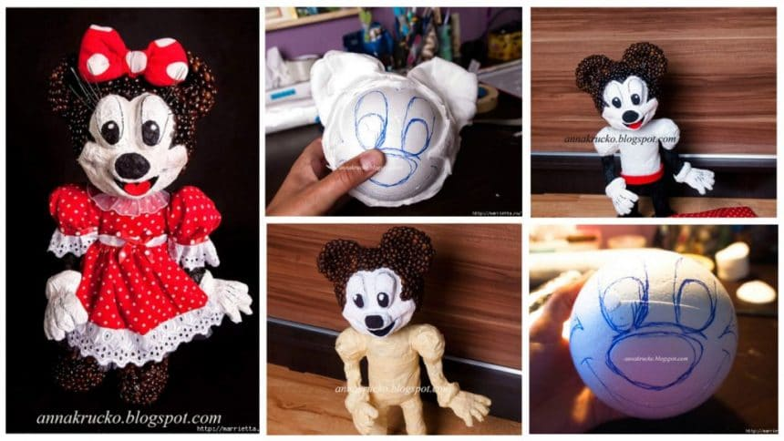 How to make mickey mouse papier-mache