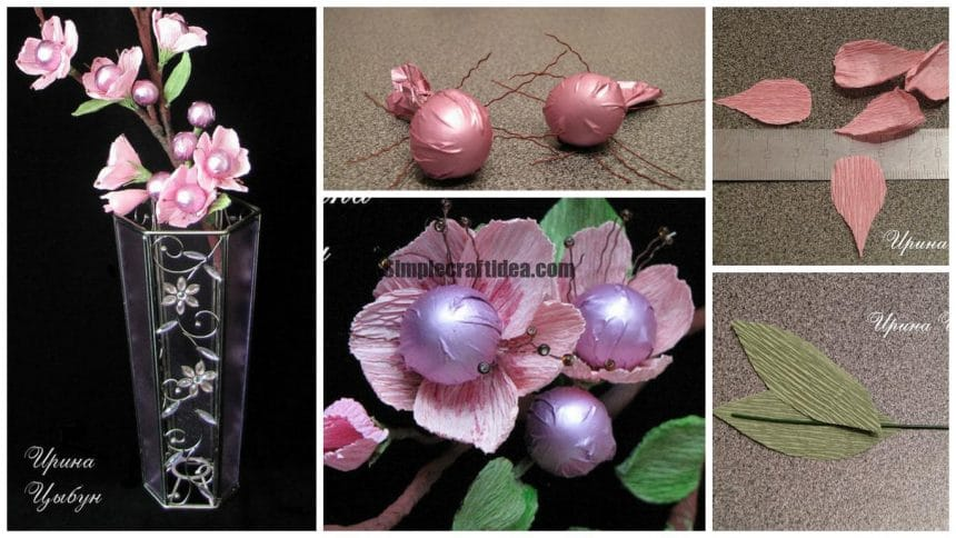 How to make flower of sweets