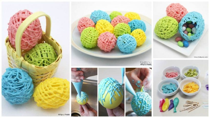 How to make bright colored Easter idea- chocolate eggs