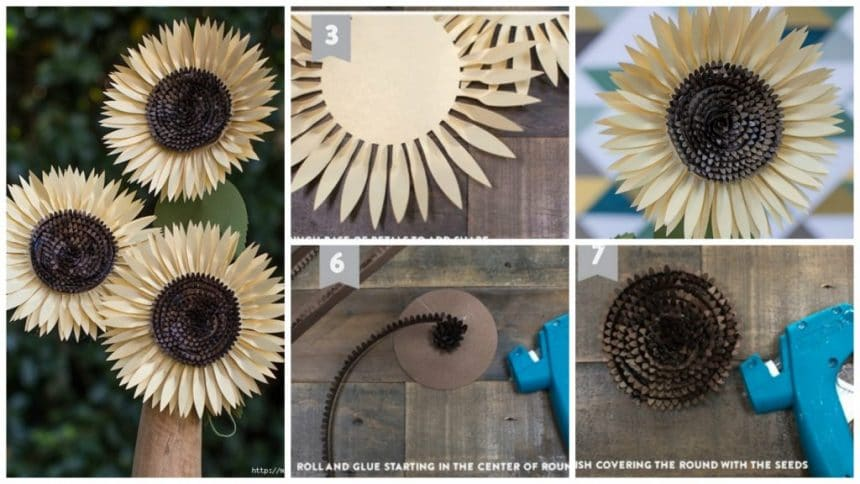 How to make sunflowers
