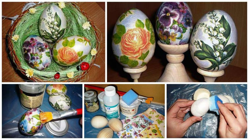 How to make decoupage easter eggs