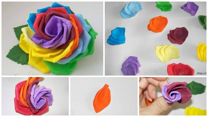 How to make rainbow rose