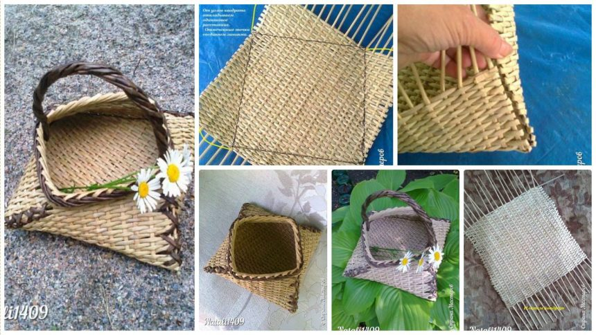 How to make weaving newspapers basket