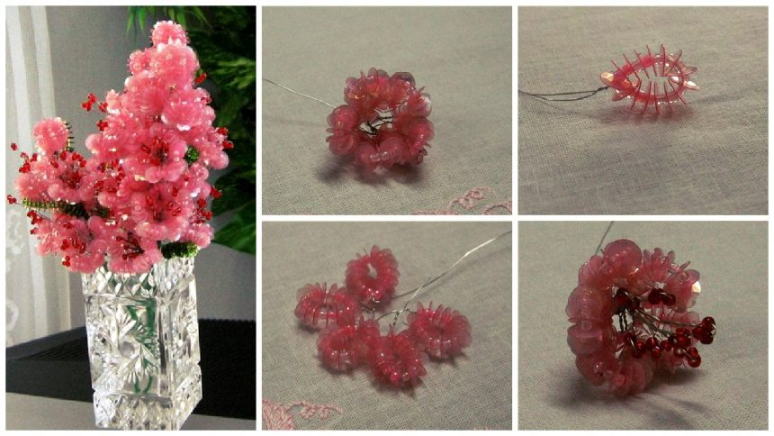 How to make sequins flower