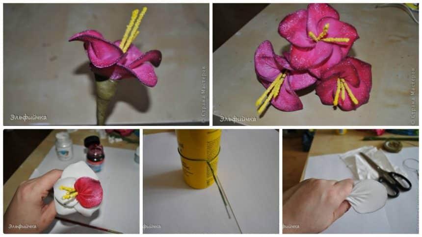 How to flowers of nylon