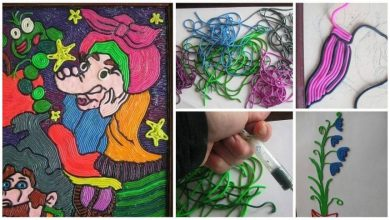plasticine paintings from the syringe