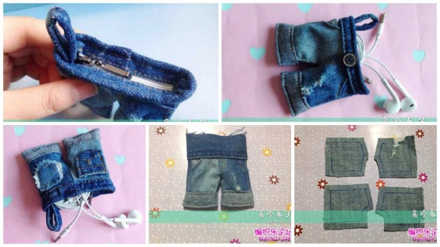 How to sew a miniature purse denim shorts