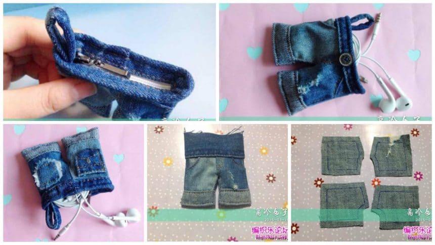 miniature purse denim shorts