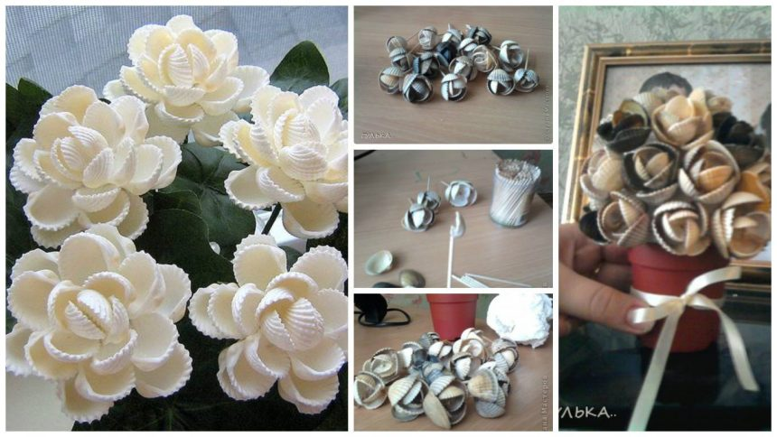 How to make shell flower