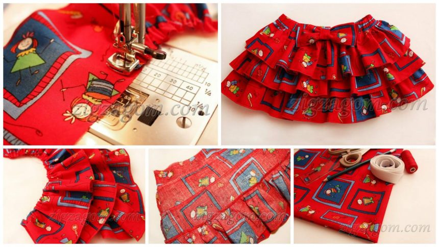 How to sew skirt for girls