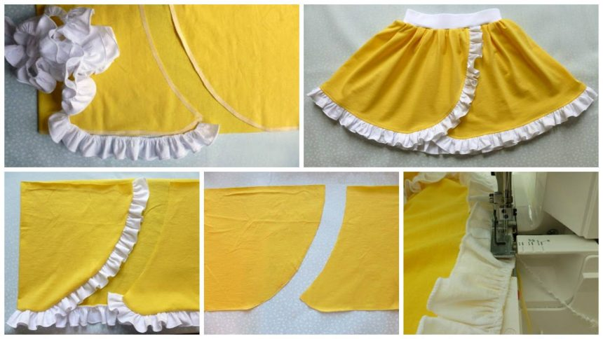 How to sew a  rectangle skirt