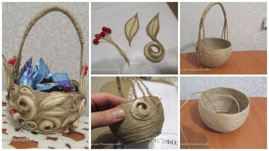 How to make Jute vase