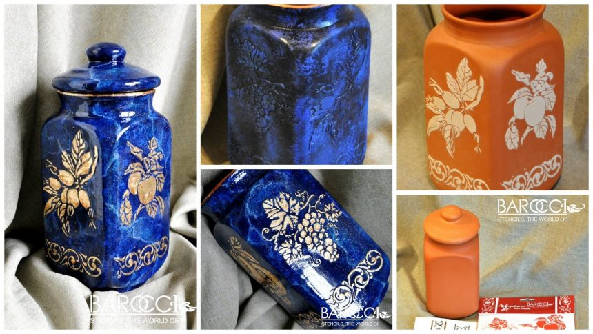 How to decorate a clay jar