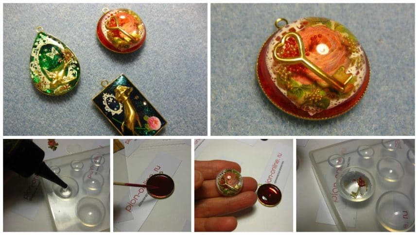 How to make pendant from UV resin