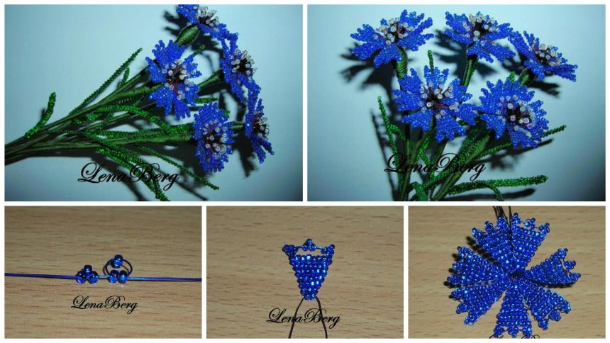 How to make cornflowers from bead