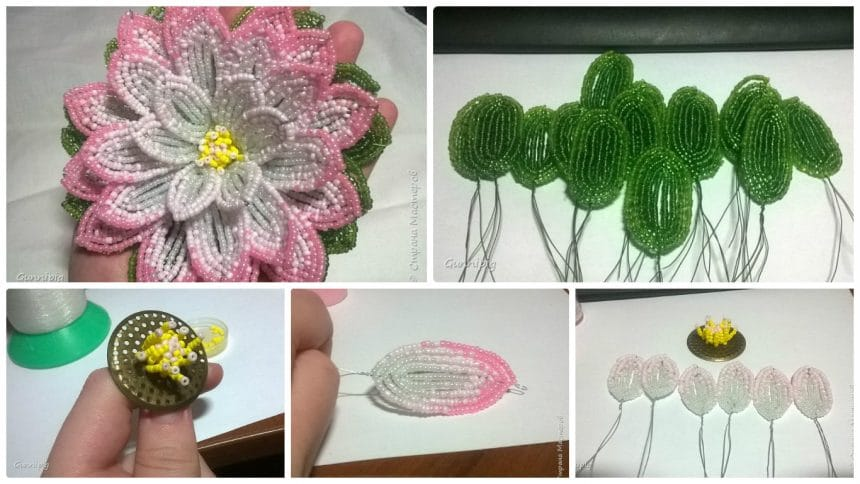 How to make lotus from weaving beads