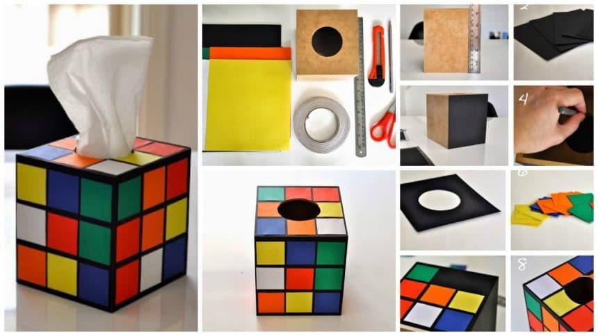 How to make Rubik's cube napkin holder