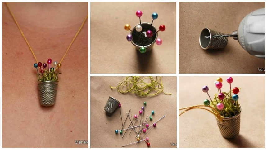 How to make thimble necklace