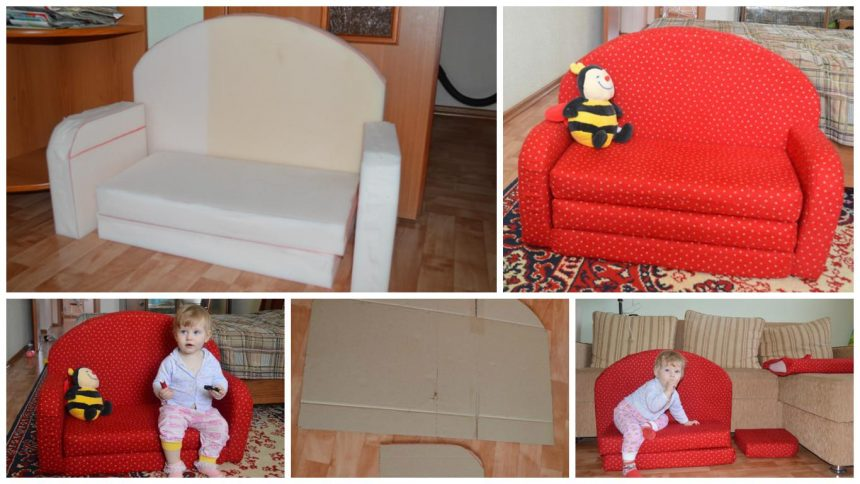 How to make kids sofa for children