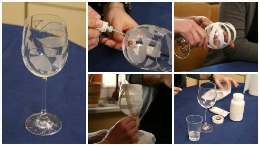 How to decorate wine glasses