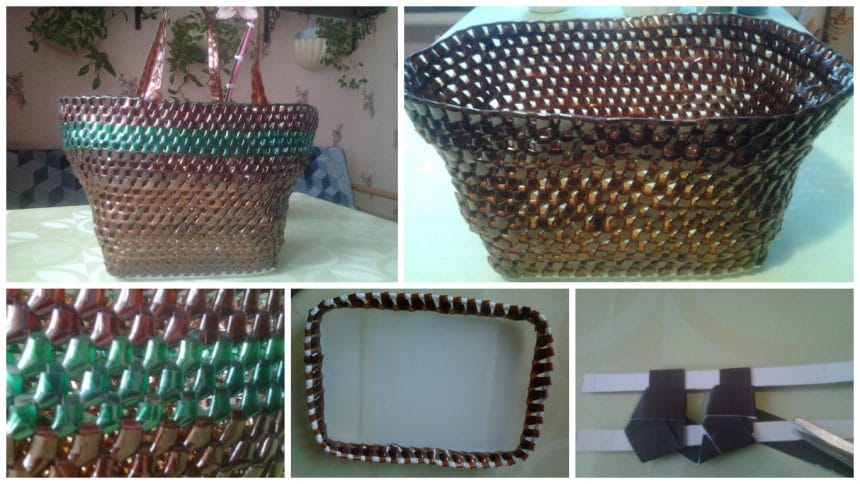 How to make bag from plastic bottle