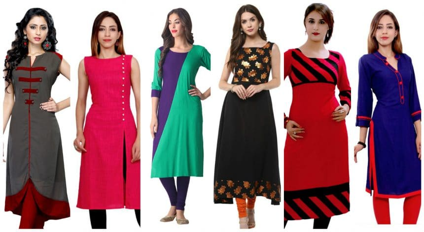 Different types of kurtha