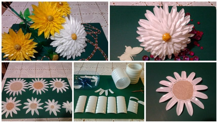 How to make flower from plastic bottle