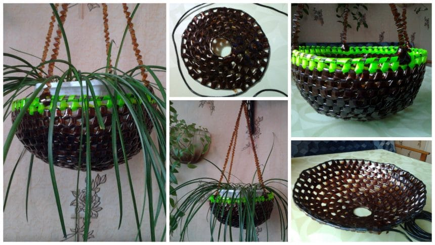 How to make hanging pots from plastic bottle