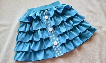 How to sew a skirt with ruffles