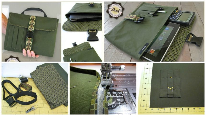 How to sew a bag for digital tablet